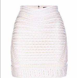 Maje Jazzou cream skirt